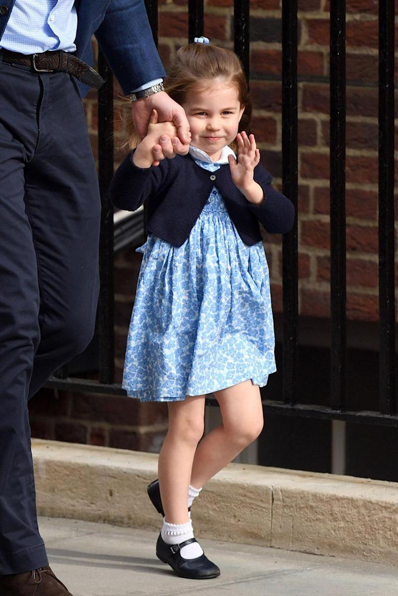 Princess Charlotte's adorable wave has seen hearts melt around the world. Photo: Getty