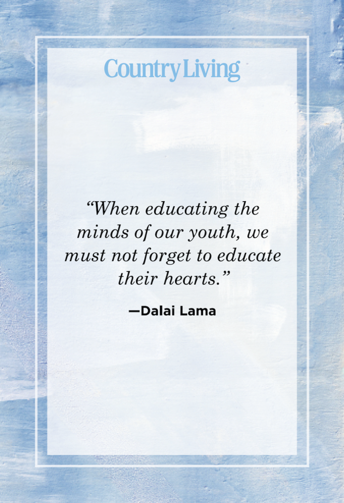 """<p>""""When educating the minds of our youth, we must not forget to educate their hearts.""""</p>"""