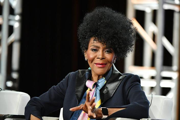 """Cicely Tyson of """"Cherish the Day"""" speaks during the OWN: Oprah Winfrey Network segment of the 2020 Winter TCA Press Tour at The Langham Huntington, Pasadena on January 16, 2020 in Pasadena, California. (Photo by Amy Sussman/Getty Images)"""