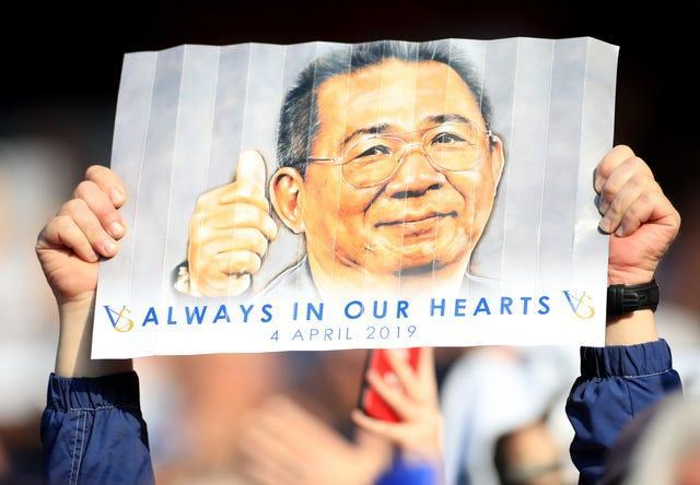 Leicester's fans continue to remember their former owner