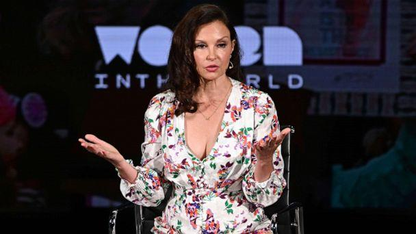 PHOTO: Ashley Judd speaks onstage at the 10th Anniversary Women In The World Summit in New York, April 11, 2019. (Mike Coppola/Getty Images. FILE)