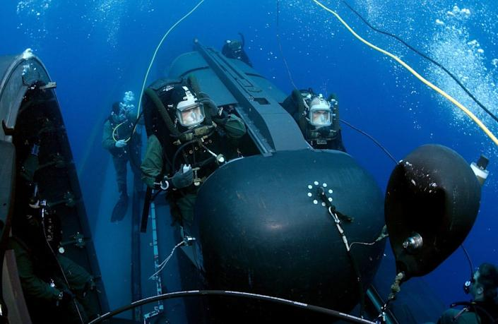 Navy SEAL Delivery Vehicle Team Two USS Philadelphia attack submarine