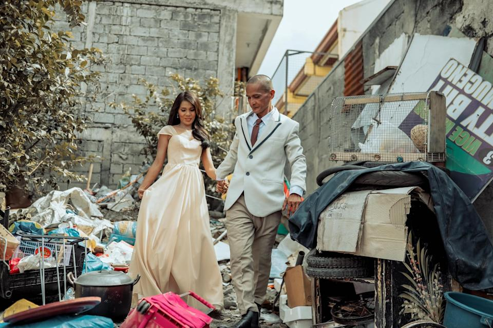 Rommel and Rosalyn wear their outfits for the makeover. (Photo reproduced with permission from Rab4Love Studios)