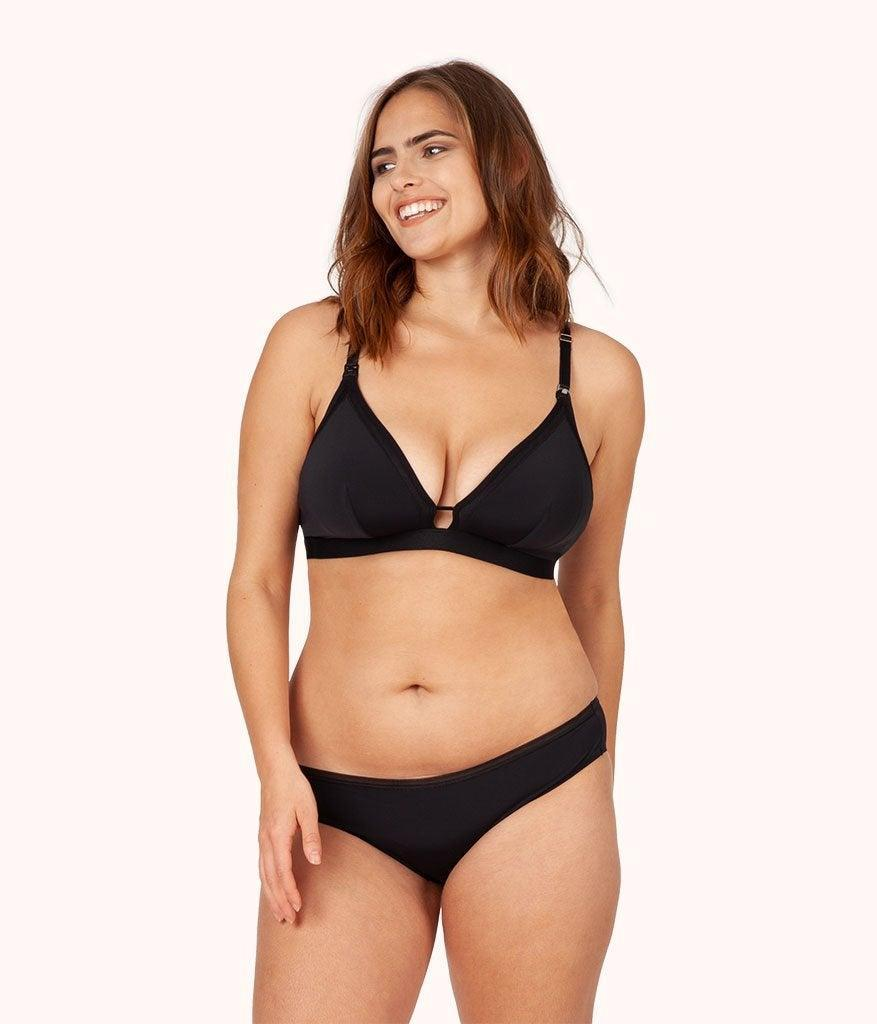"<h3>Lively The Busty Maternity Bralette</h3> <br>Get the support you need without sacrificing style or comfort with this chic bralette featuring mesh trim and convertible cups for nursing.<br><br><strong>Lively</strong> The Busty Maternity Bralette, $, available at <a href=""https://go.skimresources.com/?id=30283X879131&url=https%3A%2F%2Fwww.wearlively.com%2Fproducts%2Fthe-busty-maternity-bralette-jet-black%3Fvariant%3D31774190698592"" rel=""nofollow noopener"" target=""_blank"" data-ylk=""slk:Lively"" class=""link rapid-noclick-resp"">Lively</a><br>"