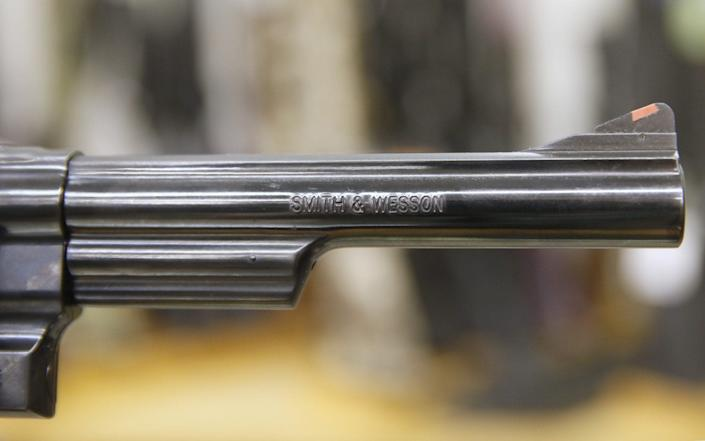 A Smith & Wesson revolver - George Frey /Bloomberg