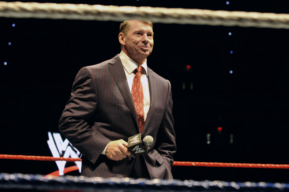 WWE chairman and CEO Vince McMahon is reportedly investing $500 million into the new XFL football league. (AP)