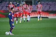 Lionel Messi's 33rd goal of the season was not enough against Granada