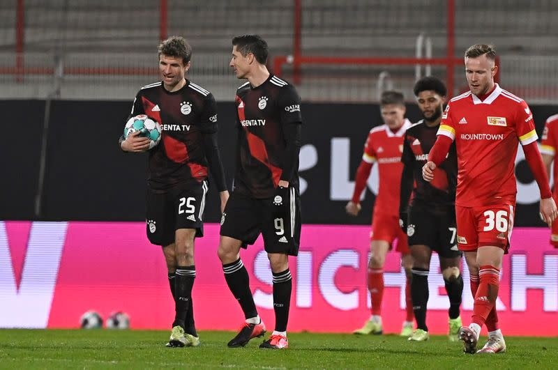 Champions Bayern stumble to 1-1 draw at Union Berlin