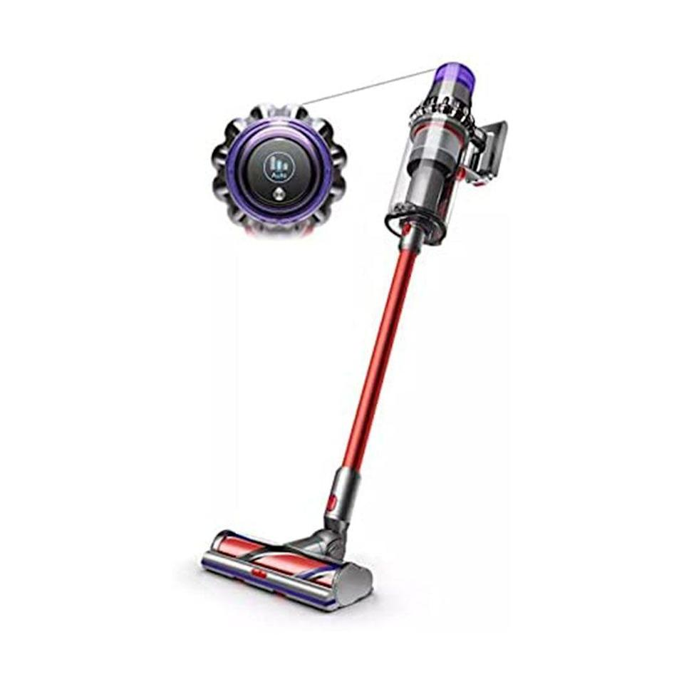 """<p><strong>Dyson</strong></p><p>amazon.com</p><p><strong>$799.99</strong></p><p><a href=""""https://www.amazon.com/dp/B084B9NX7Q?th=1&tag=syn-yahoo-20&ascsubtag=%5Bartid%7C10060.g.37679919%5Bsrc%7Cyahoo-us"""" rel=""""nofollow noopener"""" target=""""_blank"""" data-ylk=""""slk:Shop Now"""" class=""""link rapid-noclick-resp"""">Shop Now</a></p><p>The Dyson V11 Outsize delivers the suction of a full-size vacuum with the convenience of a cordless model. This high-end vacuum can run for an impressive 120 minutes thanks to its two swappable batteries, and it delivers 85% more suction than the Dyson V7. It has a much larger dust bin, allowing you to clean for longer without emptying, and the extra-large cleaner head intelligently optimized suction across different types of flooring. </p><p>The vacuum's LCD display shows its run time, performance, and even maintenance alerts, and you can toggle between eco, auto, and boost settings as you clean your whole home.</p>"""