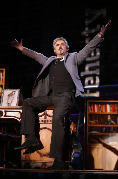 IMAGE DISTRIBUTED FOR GOLF CHANNEL - David Feherty has fun with the audience at Golf Channel's 'Feherty Live From the Ryder Cup', on Monday, September 24, 2012 at the Tivoli Theatre in Downers Grove, IL. (Ross Dettman/AP Images for Golf Channel)
