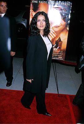 """Premiere: <a href=""""/movie/contributor/1800018952"""">Salma Hayek</a> at the Beverly Hills premiere of Miramax Films' <a href=""""/movie/1804361439/info"""">Chocolat</a> - 12/11/2000<br><font size=""""-1"""">Photo by <a href=""""http://www.wireimage.com"""">Sam Levi/WireImage.com</a></font>"""