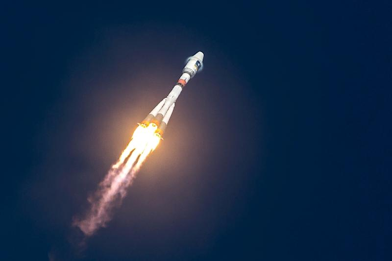 A Soyuz rocket blasting off from the European Space Center, pictured in December 2015, launching one of the four satellites of the Galileo satnav system (AFP Photo/jody amiet)