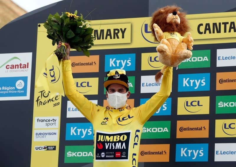 Cycling: Ice-cool Roglic strengthens Tour lead, exhausted Bernal fades