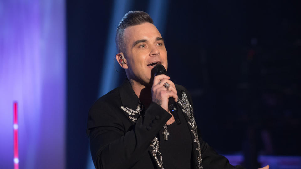 Robbie Williams showed off his dance moves in an Instagram video. (David Parry/PA Images via Getty Images)