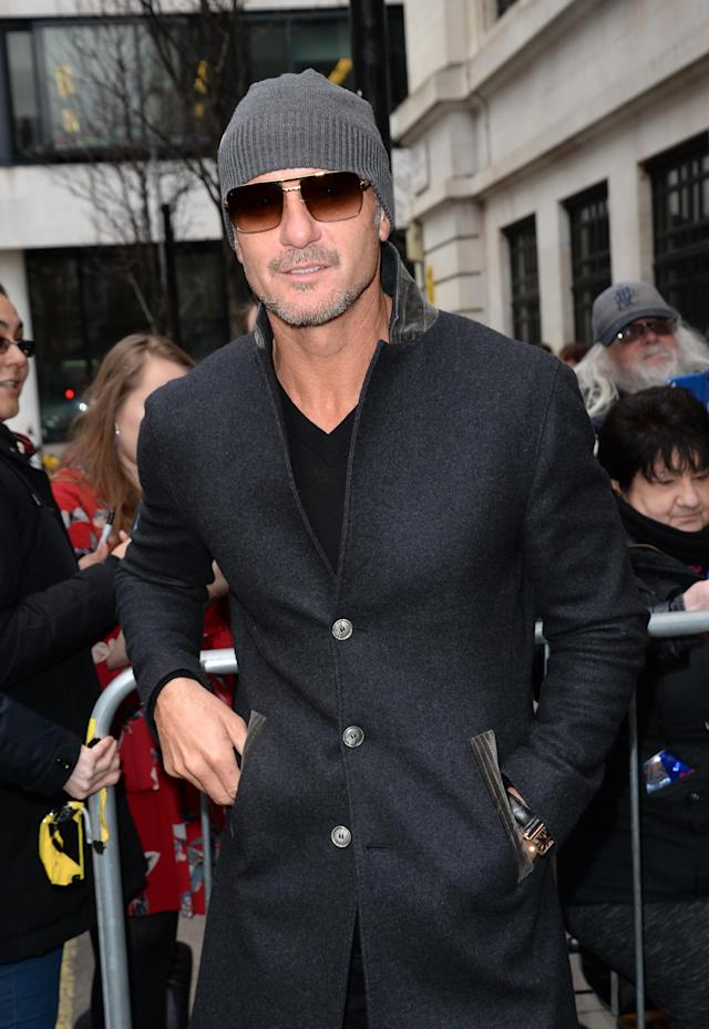 Tim McGraw on March 8 in London. (Photo: SAV/GC Images)