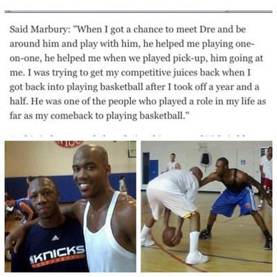 'Andre photographed training with Stephon Marbury in New York' (PRNewsfoto/Andre Ricks)