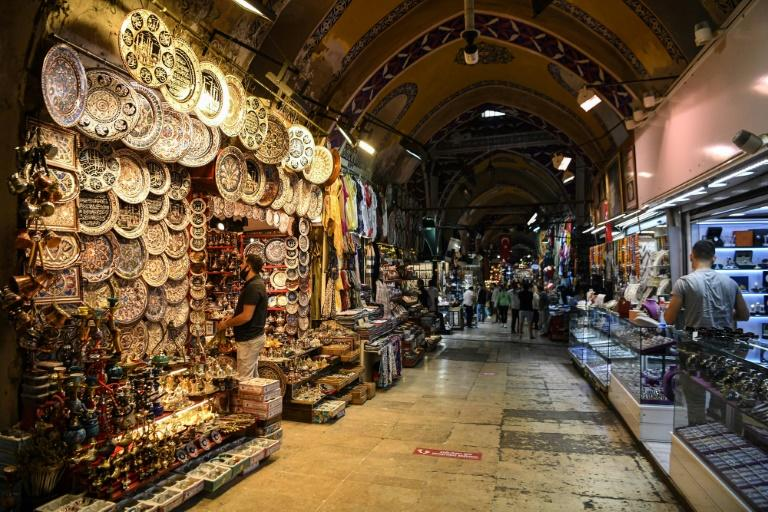 Turkey's famous Grand Bazaar opened Monday -- but masks were mandatory and customer numbers limited