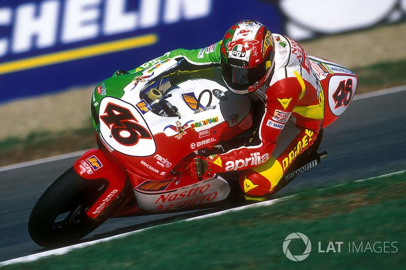 "Valentino Rossi, Aprilia Grand Prix Racing 250cc 1998<span class=""copyright"">Gold and Goose / Motorsport Images</span>"