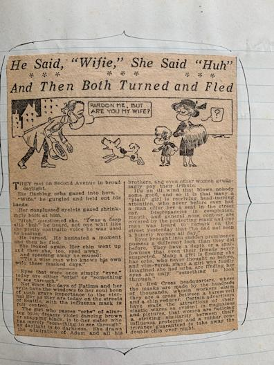 An amusing story in the local Seattle paper about the requirement that everyone wear masks during the 1918 Spanish influenza epidemic there.