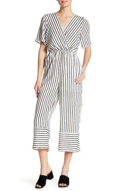 "Get it on <a href=""https://www.nordstromrack.com/shop/product/2319001/elodie-surplice-stripe-jumpsuit?color=WHT%20BLACK"" target=""_blank"">Nordstrom Rack for $30</a>."