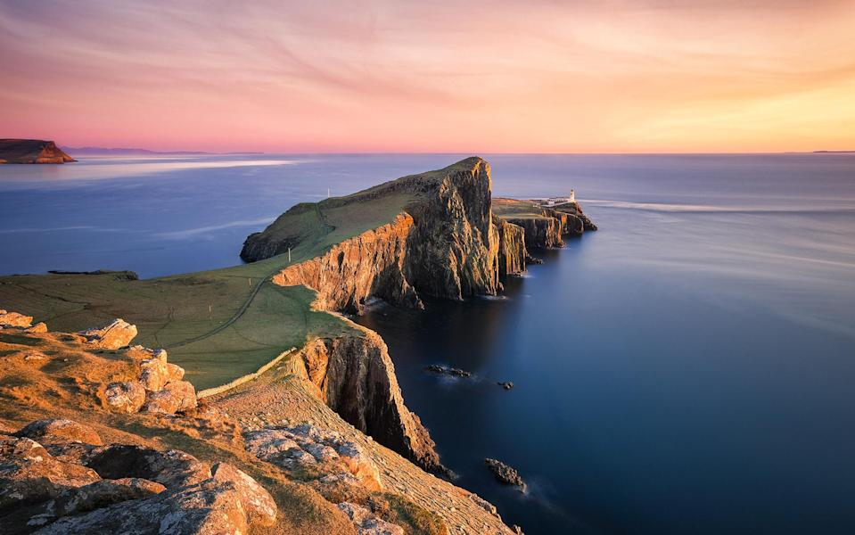 Sunshine and warmth while cruising among the Hebrides made for beautiful views from deck - iStock