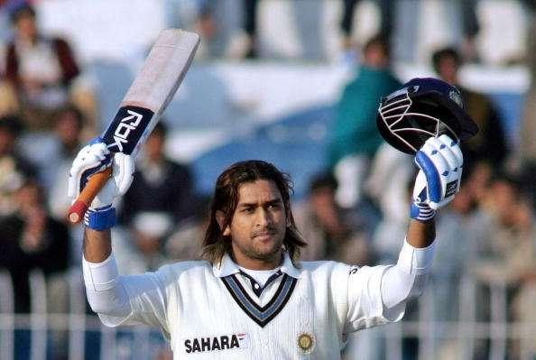 Image result for dhoni long hairs