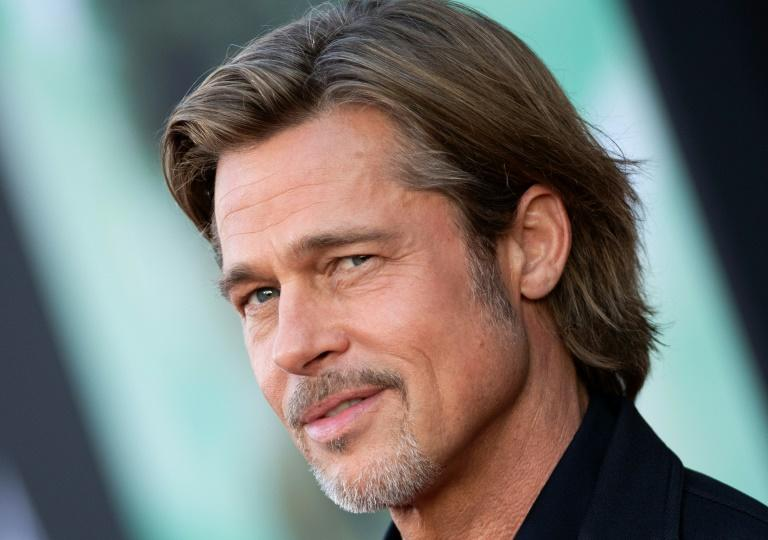 Brad Pitt is among the Hollywood stars who have embraced streaming as audiences grow (AFP Photo/VALERIE MACON)
