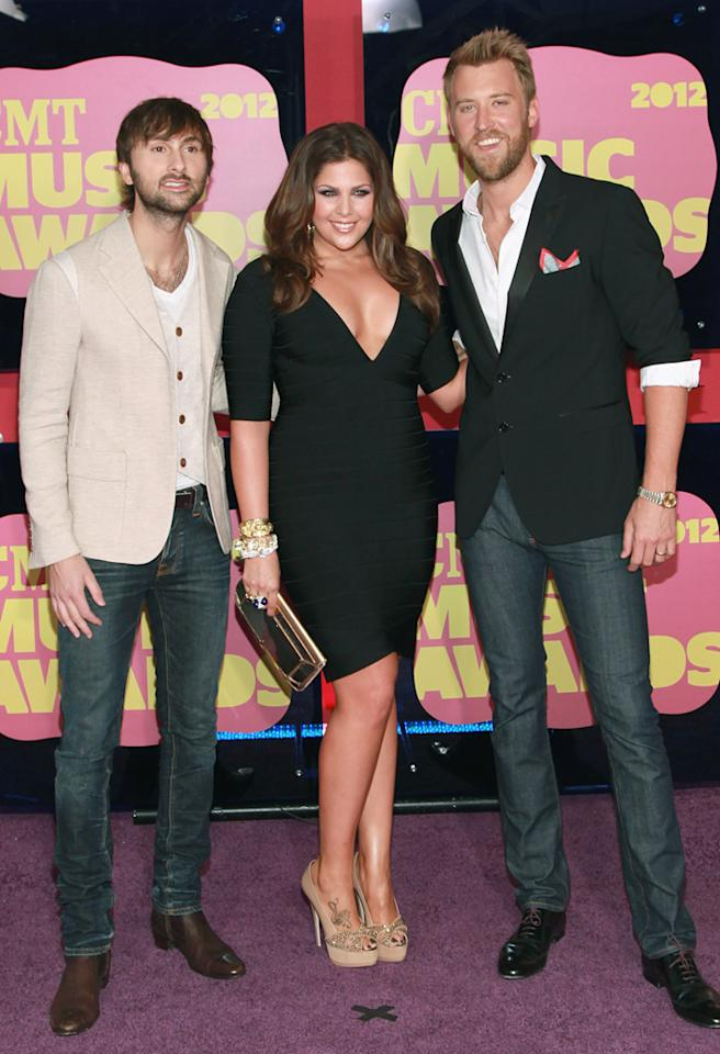 "<p class=""MsoNormal"">Lady Antebellum faced off against Jay-Z, Eminem, and Bruno Mars, among others — and <i>won</i> at the 2011 Grammy Awards. The trio's song ""Need You Now"" about two exes wanting to rekindle their romance after a night of drinking took home Grammy gold for both Song of the Year and Record of the Year. </p>"
