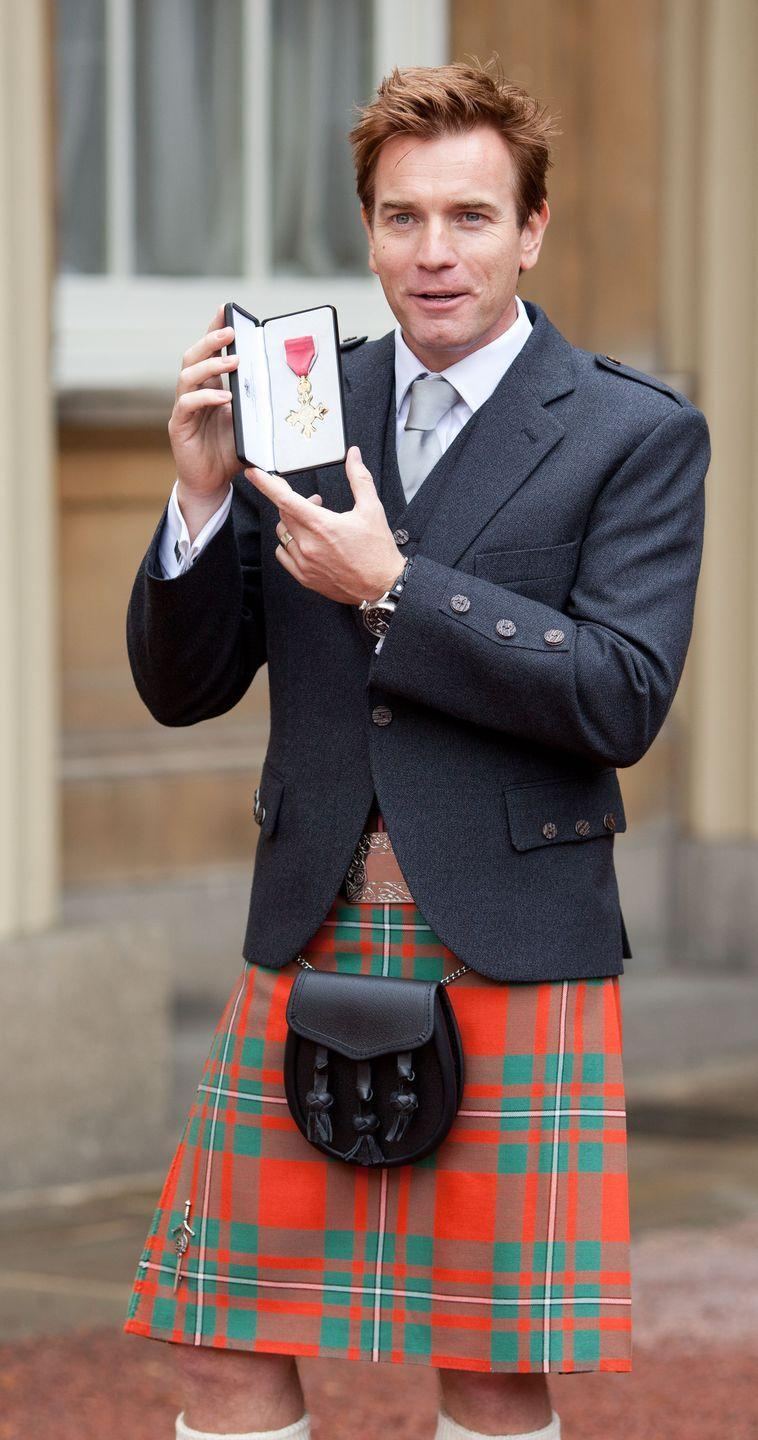 <p>Prince Charles appointed McGregor an Officer of the Order of the British Empire (OBE) for services to drama and charity in 2013.</p>