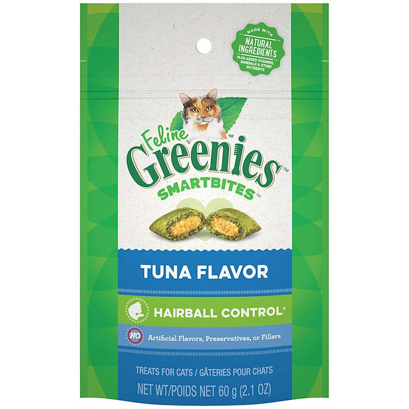 Greenies Smartbites are developed by veterinarians to help promote a healthy diet and stop hairballs from forming. (Photo: Amazon)