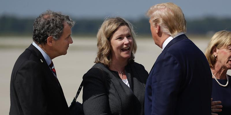 Trump Sherrod Brown Nan Whaley