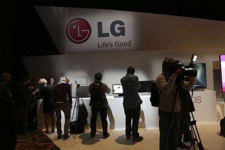 Attendees browse at products following an LG event during the annual Consumer Electronic Show in Las Vegas