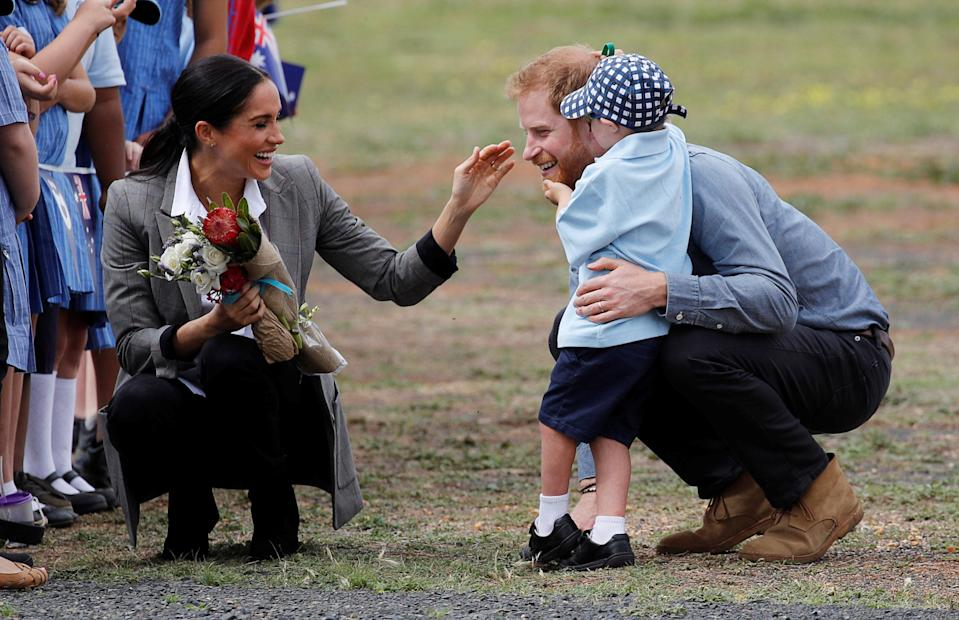 The schoolboy loves Santa Claus, which explains his love for Prince Harry's facial hair. Source: Getty
