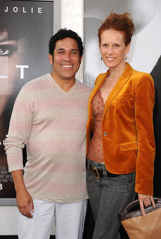 "<a href=""http://movies.yahoo.com/movie/contributor/1804518221"">Oscar Nunez</a> and wife at the Los Angeles premiere of <a href=""http://movies.yahoo.com/movie/1810072508/info"">Salt</a> - 07/19/2010"
