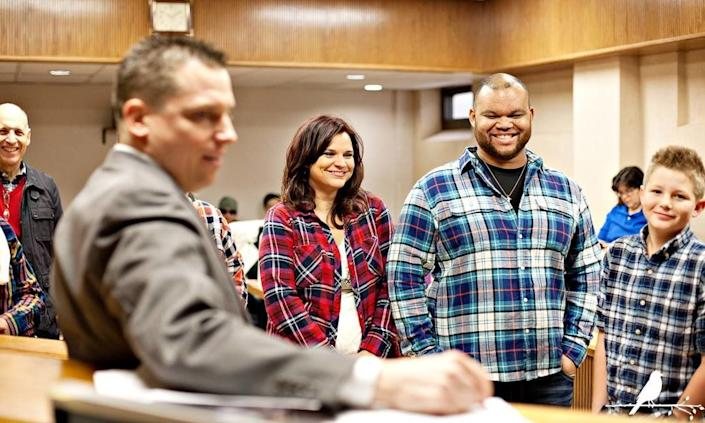 """""""The Sims family is known as being advocates for many youth from hard places. Here they are adopting two teens at this beautiful adoption finalization."""" -- Mary Morrow"""
