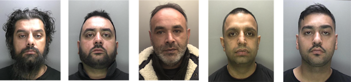 The gang was jailed at Birmingham Crown Court (Picture: National Crime Agency)