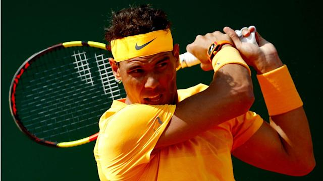 Aljaz Bedene was swept aside by Rafael Nadal in the second round of the Monte Carlo Masters.