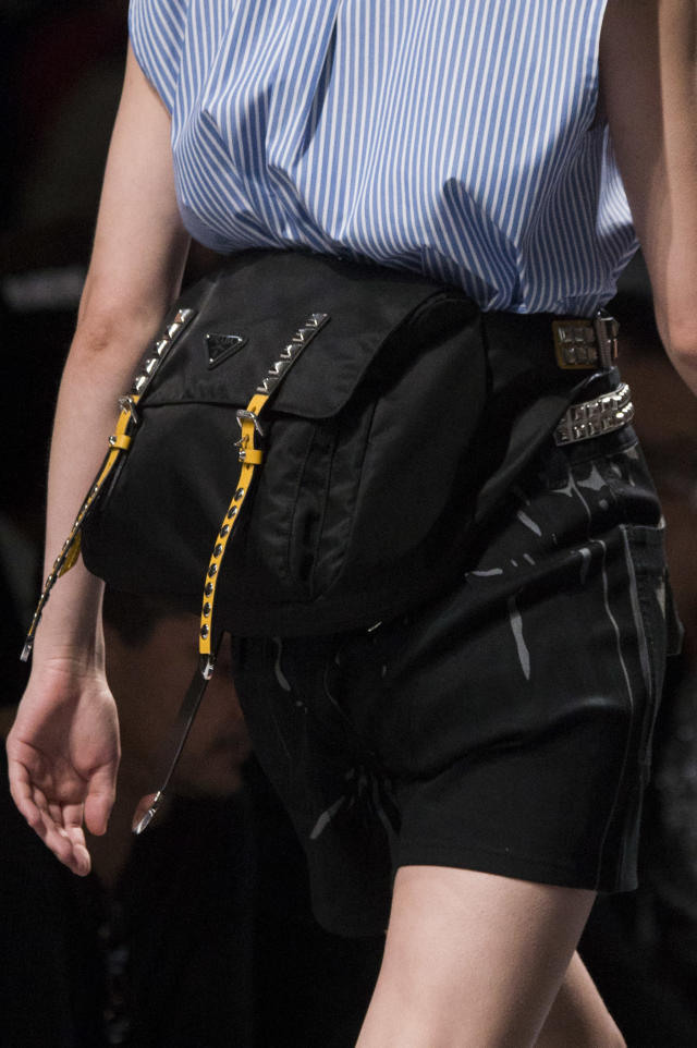 <p><i>Sporty messenger bum bag from the SS18 Prada collection. (Photo: ImaxTree) </i></p>