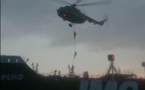 This image grab taken from a video provided by Iran's Revolutionary Guard official website via SEPAH News