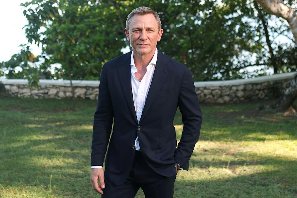 "Actor Daniel Craig poses for a picture during a photocall for the British spy franchise's 25th film set for release next year, titled ""Bond 25"" in Oracabessa, Jamaica April 25, 2019. REUTERS/Gilbert Bellamy"
