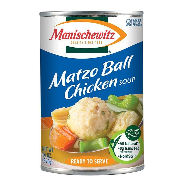 "<p>""<a href=""http://www.manischewitz.com/product/matzo-ball-chicken-soup/"" class=""link rapid-noclick-resp"" rel=""nofollow noopener"" target=""_blank"" data-ylk=""slk:Manischewitz Matzo Ball Chicken Soup"">Manischewitz Matzo Ball Chicken Soup</a> (in a can) is honestly better comfort food for me than mac and cheese!"" - Alaina Demopoulos, editorial assistant, Beauty</p>"