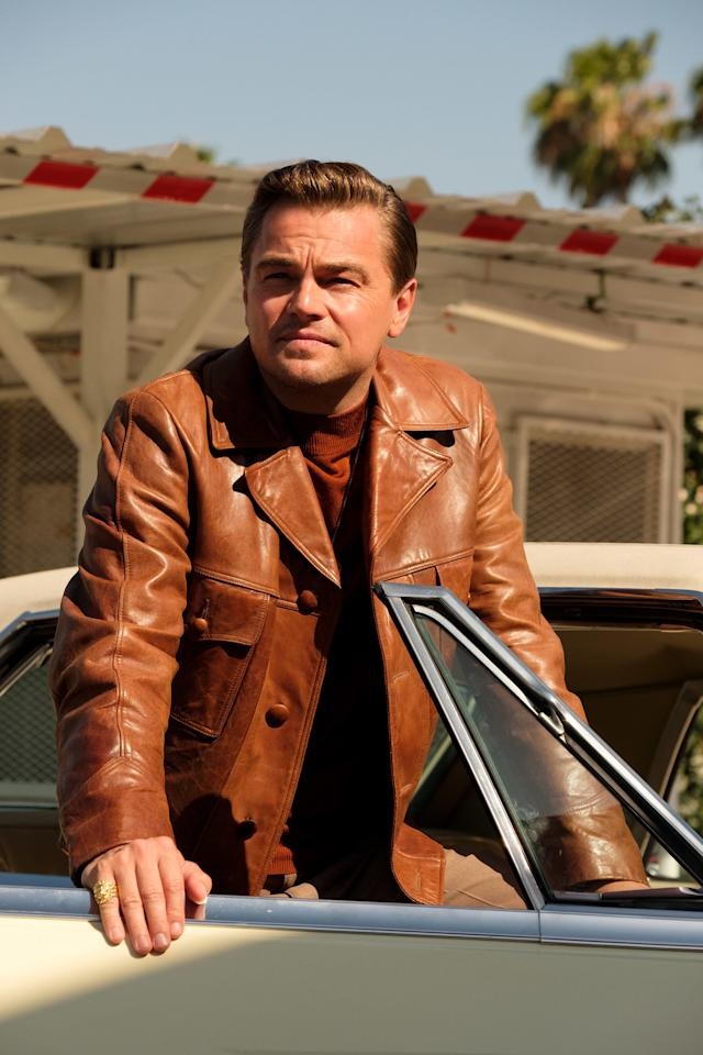 """<em>Once Upon a Time in Hollywood</em>, the ninth film from Quentin Tarantino, is a <a href=""""https://ew.com/movie-reviews/2019/07/23/once-upon-a-time-in-hollywood-review/"""" target=""""_blank"""">""""wild, shaggy '60s thrill ride""""</a> — and it's got the wardrobe to match. From aging star Rick Dalton's (Leonardo DiCaprio) on-set Western baddie costumes to Sharon Tate's (Margot Robbie) mod party-wear, costume designer Arianne Phillips kept the cast looking sharp and so, so 1969. Check out some of the movie's best looks ahead."""