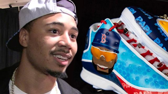 Mookie Betts Rockin' Big Papi-Themed Cleats to Honor David Ortiz