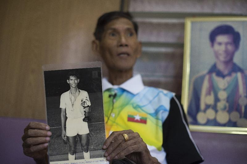 Myo Win Nyunt played for the country during Myanmar's football glory days and has seen the sport decline due to 50 years of neglect under the former military junta (AFP Photo/YE AUNG THU)