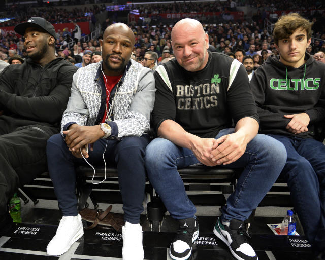 Dana White wants to formalize a deal for a Floyd Mayweather fight for October or November. (Kevork Djansezian/Getty Images)