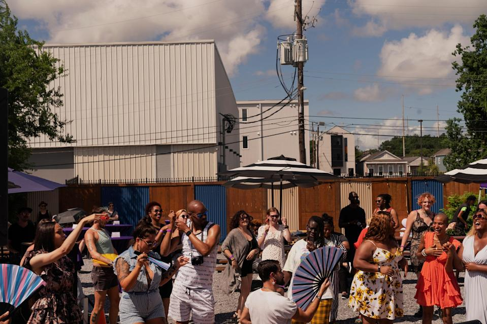 The party was dubbed a HOT Summer Celebration, with live performances, food, and raffle items.