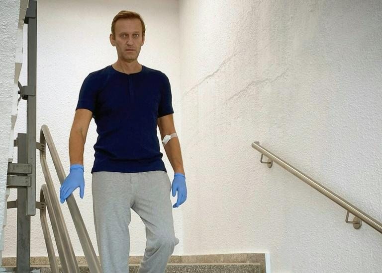 Navalny posts photo of himself walking, describes recovery