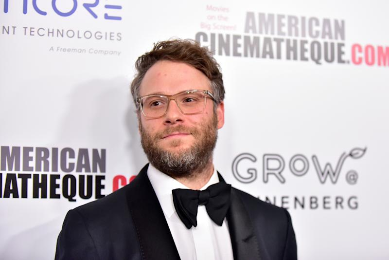 BEVERLY HILLS, CALIFORNIA - NOVEMBER 08: Seth Rogen attends the 33rd American Cinematheque Award Presentation Honoring Charlize Theron at The Beverly Hilton Hotel on November 08, 2019 in Beverly Hills, California. (Photo by Rodin Eckenroth/WireImage)