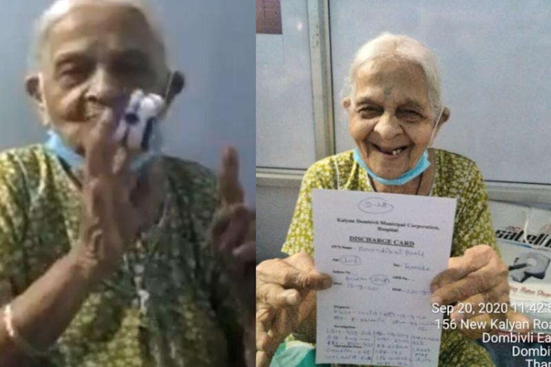 106-year-old Woman Flaunts Her Discharge Certificate After Defeating Covid-19 in Maharashtra