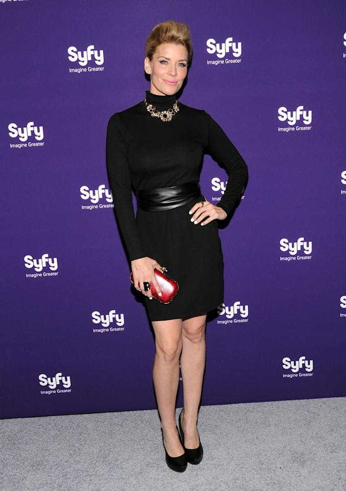 "McKenzie Westmore (""<a href=""http://tv.yahoo.com/face-off/show/46607"">Face Off</a>"") attends Syfy's 2012 Upfront event at the American Museum of Natural History on April 24, 2012 in New York City."